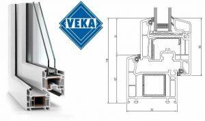 VEKA Softline uPVC Profile Schematic