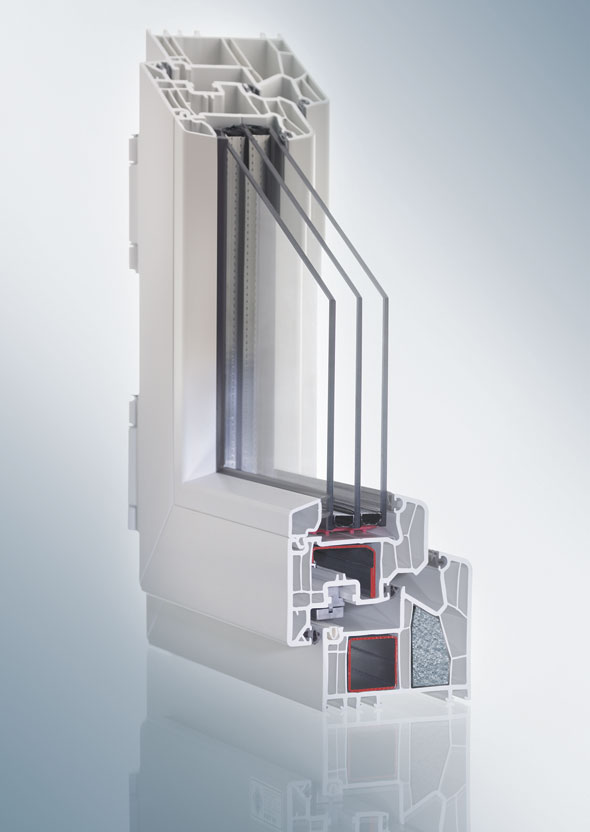 VEKA uPVC window - internal structure