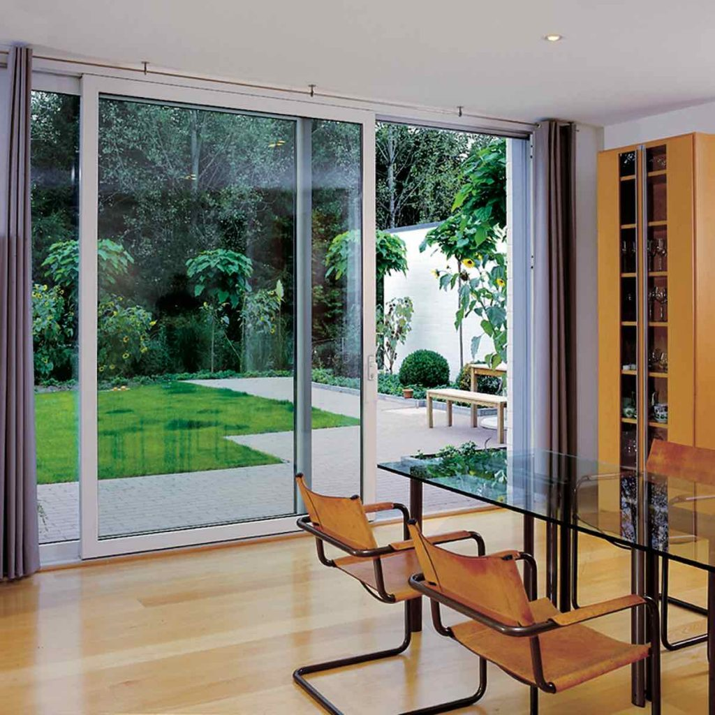VEKA Sliding Doors in Dining Room