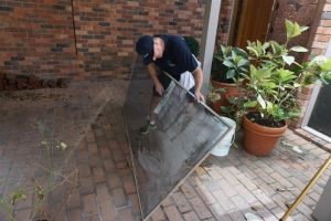 clean window screens with ease
