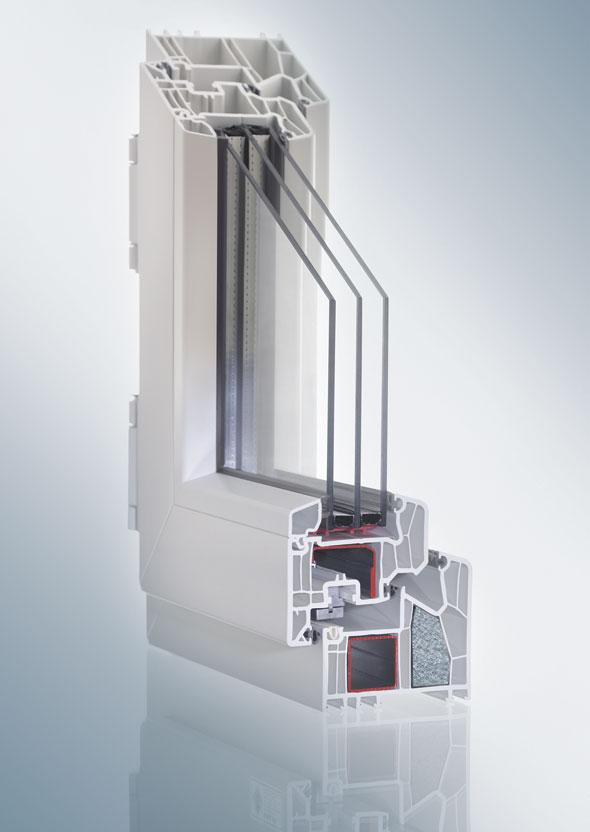 VEKA uPVC window - internal structure